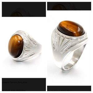 Other - Men's tiger eye ring